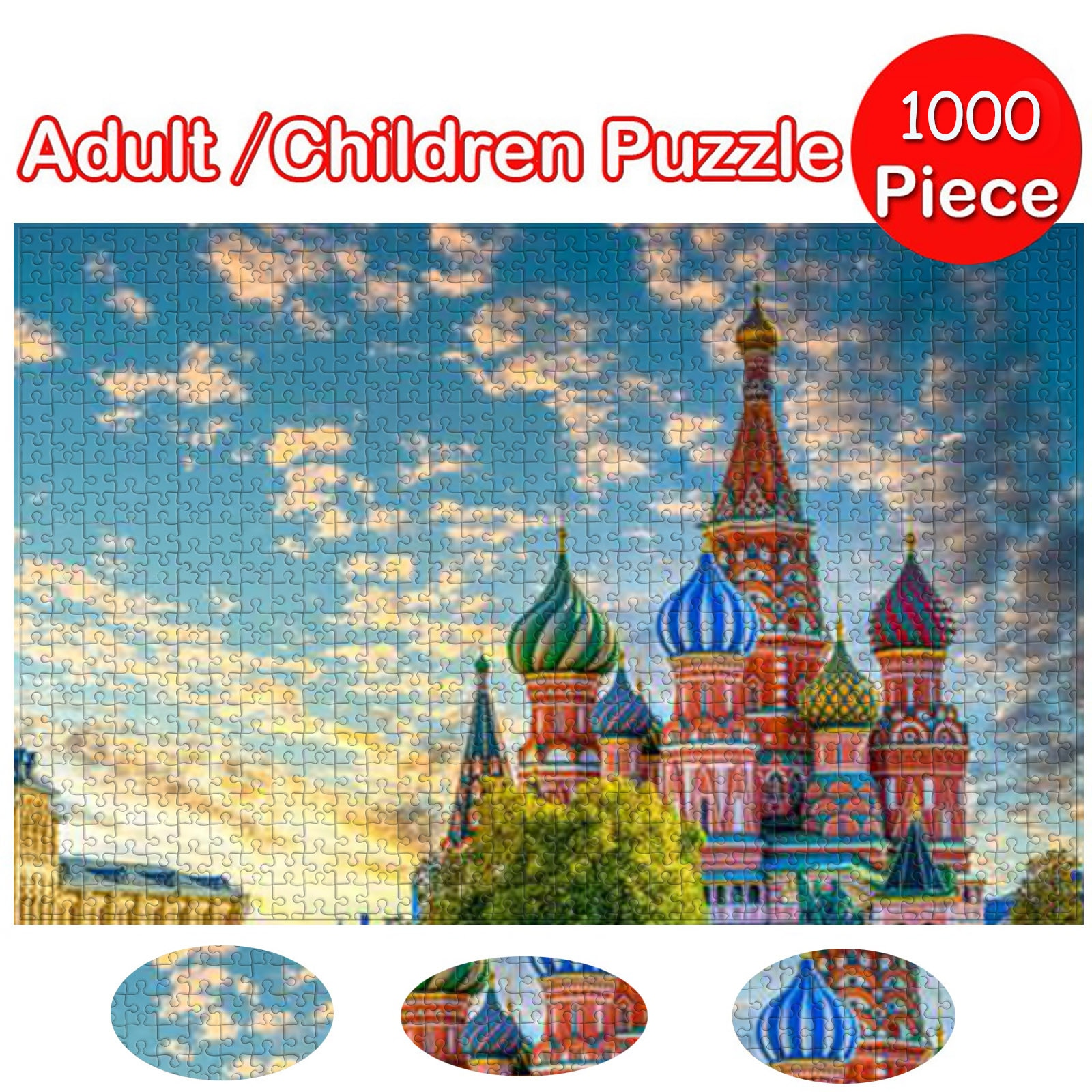HIINST 1000pcs St. Basil's Cathedral Picture Jigsaw Puzzle Toys Kids Educational Toys Adults Building Block Game детские игрушки