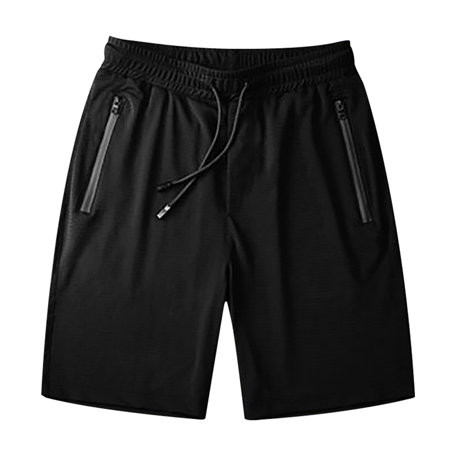 Summer New men's Casual Trend Loose quick-drying Shorts Ice Silk five-point Pants men's Zipper Sweat