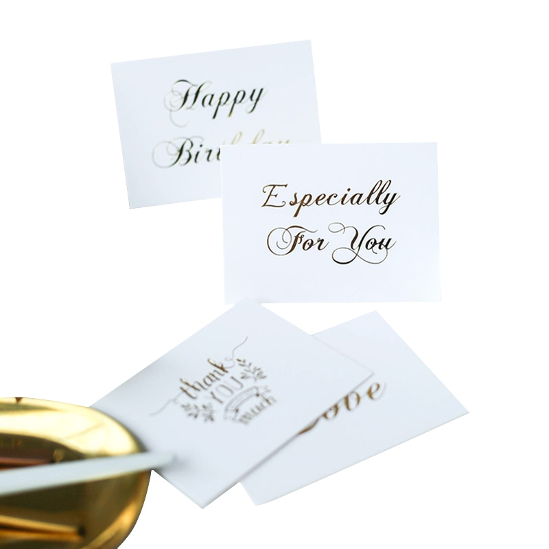 AliExpress - 40pcs/pack Mini thank you Card White bronzing gift decoration card Scrapbooking party invitation DIY Deco Supply For Wedding