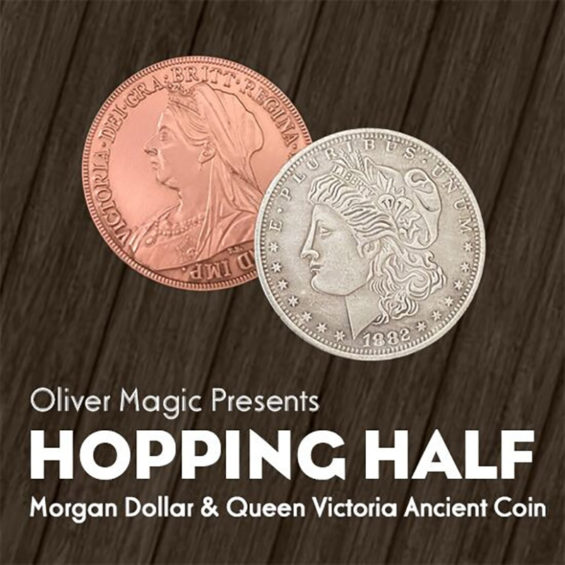 Hopping Morgan Magic Tricks Coins Appearing Vanishing Magia Magician Close Up Gimmick Illusion Prop Mentalism Funny недорого