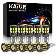 Katur 10 pièces T10 LED Canbus ampoules W5W 194 168 LED Auto lampe voiture intérieur ampoule blanc rouge jaune aucune erreur pour BMW E90 E60