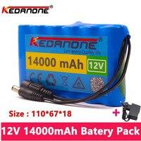 18650 12V 14000mah батарея Перезаряжаемые комплект литий-ионный батарей емкости DC 12,6 v 14Ah IP камеры видеонаблюдения монитор + зарядное устройство