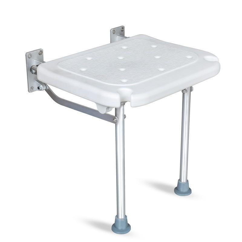 YC5301 حاجز الحرة للطي كرسي استحمام مقعد مقعد سبائك الألومنيوم حمام البراز الجدار البراز الحمام الجدار كرسي مع فتحة دش