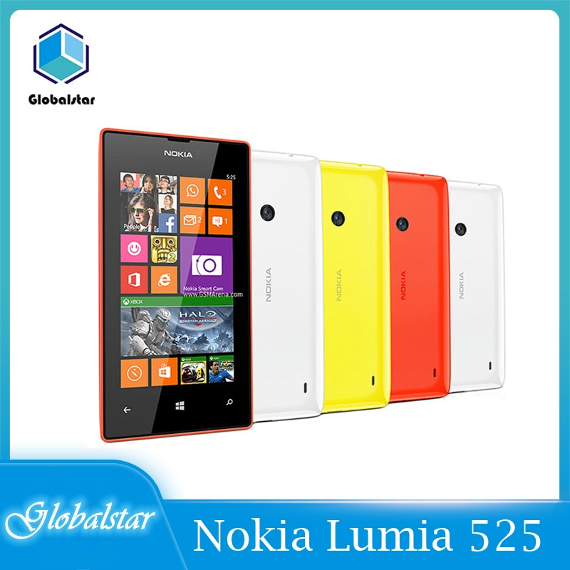 Nokia Lumia 525 Nokia Original restaurado 525 Windows teléfono móvil de doble...
