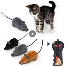 Plush Mouse Mechanical Motion Rat Wireless Remote Electronic Rat Kitten Novelty Funny Pet Supplies P