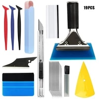 carbon fiber vinyl film sticker car wrap tool kit car accessories auto window tinting magnetic squeegee razor scraper set
