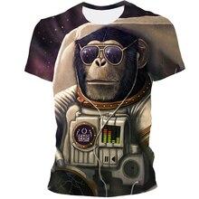 2021 New Style 3D  Animal Orangutan Print  Hip Hop Cool Handsome T-Shirt For Men And Women XXS-6XL