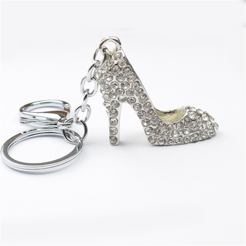 Regalo del Día de San Valentín diamante Ballet llavero de zapatos de tacón alto strass llavero de dama de honor regalo fiesta favores amante presente-S