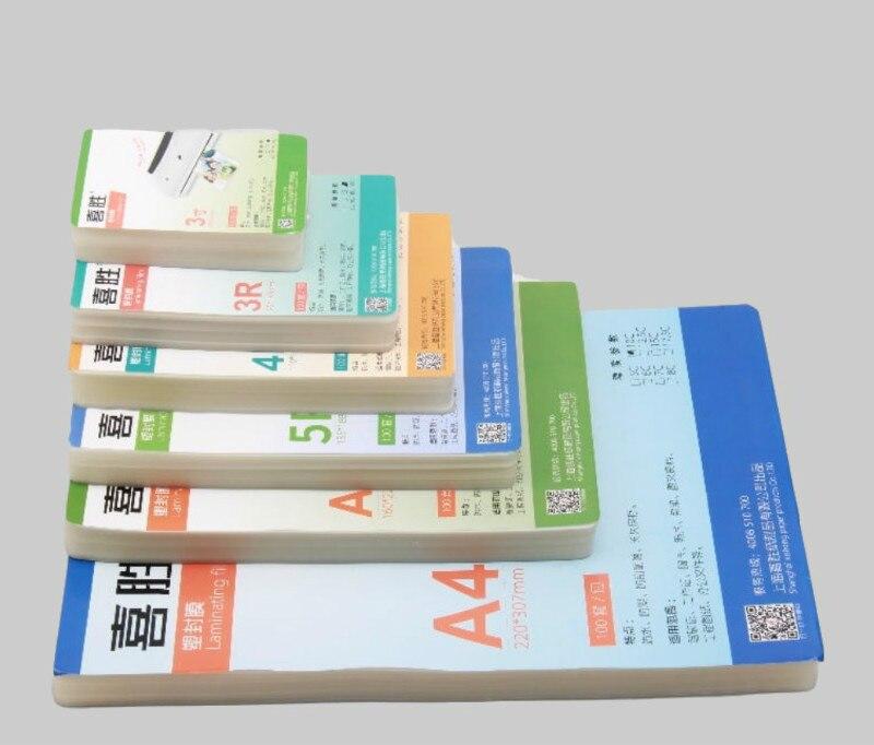 """120 Uds 60mic 6 tamaño (3 """"5"""" 6 """"7"""" 8 """"A4) película de laminación térmica PET + EVA Plastifieuse para laminadora de rollos plastificadora de plástico"""
