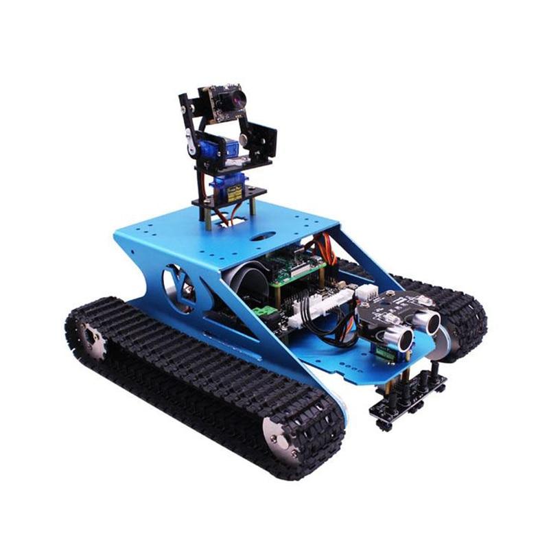 Raspberry Pi Tank-مجموعة روبوتية ذكية مع كاميرا وواي فاي وبرمجة فيديو لاسلكية و Raspberry Pi 4B/3B