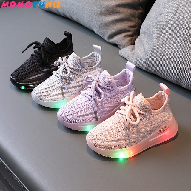 Size 21-30 Children's Led Shoes Boys Girls Lighted Sneakers Glowing Shoes for Kid Sneakers Boys Baby Sneakers with Luminous Sole 2