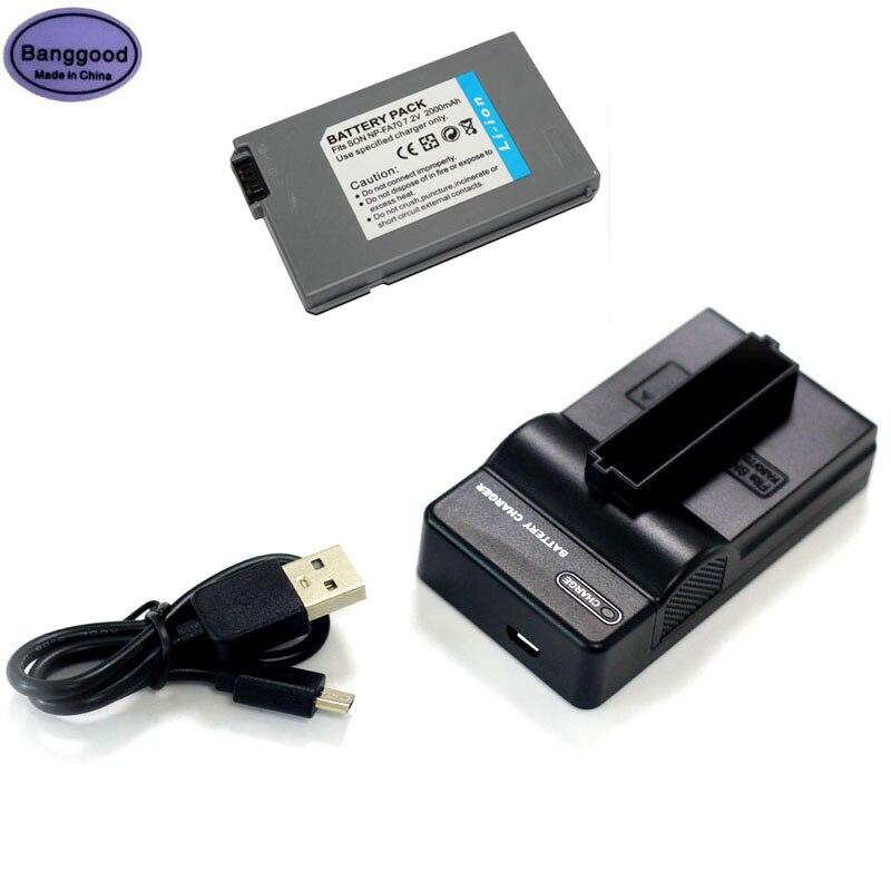 Bateria da Câmera para Sony Banggood Fa70 np Dcr-hc53e 55e 90e Dvd7e Pc1000dcr-dvd7 Dcr-hc90e Dcr-hc90es 7.2v 2000mah Np-fa70 Npfa70