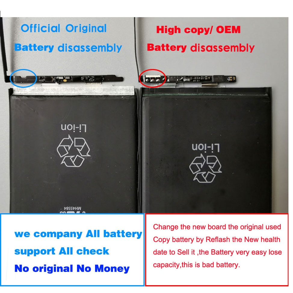 New Original Phone Battery For Apple iPhone  6 6S 7 8 Plus X XS MAX XR 11 12 pro max 12 mini Real battery Replacement enlarge