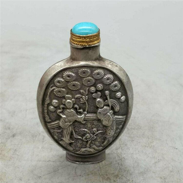 Антиквариат Женская фигурка табак бутылка разные состаренные коллекции ручной работы