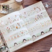 1 Roll Kawaii PET Transparent Washi Tape Girl Snacks Pattern Making Tape Diary Journal Decoration Washi Stickers Scrapbooking