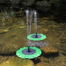 Dropshipping Solar Fountain Outdoor Waterproof Garden Landscape Garden Courtyard Lotus Leaf Floating Water Pump Bird Feeder 1PC