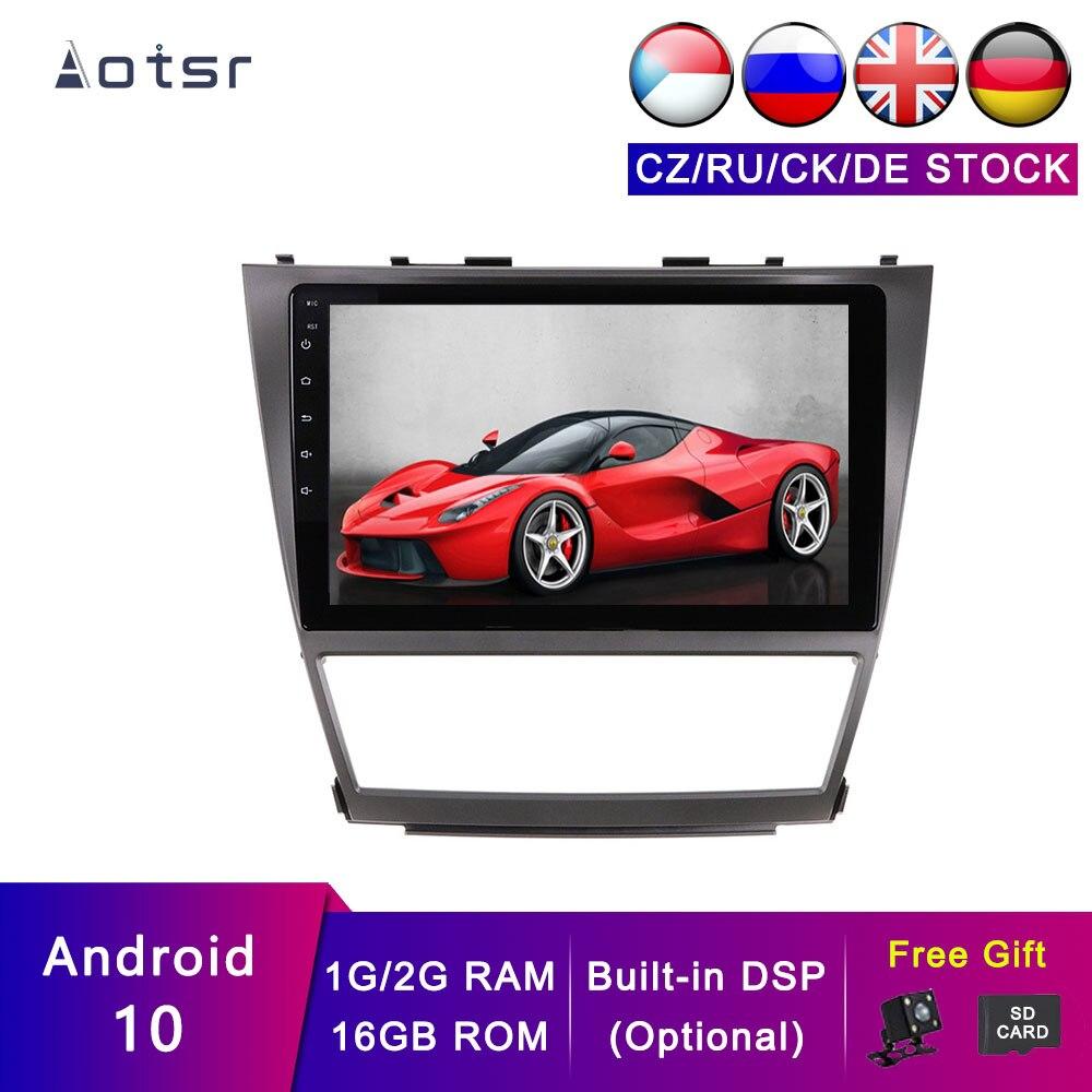 AOTSR Android 10 rastreador de navegación de coche para Toyota Camry 2006-2011 coche GPS cinta reproductor del grabador multimedia unidad principal ESTÉREO
