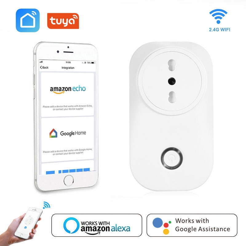 Chile Smart Plug Italy Wifi Socket Plug IT CL 16A Power Monitor Voice Control Works With Alexa Google Home Tuya Smart Life