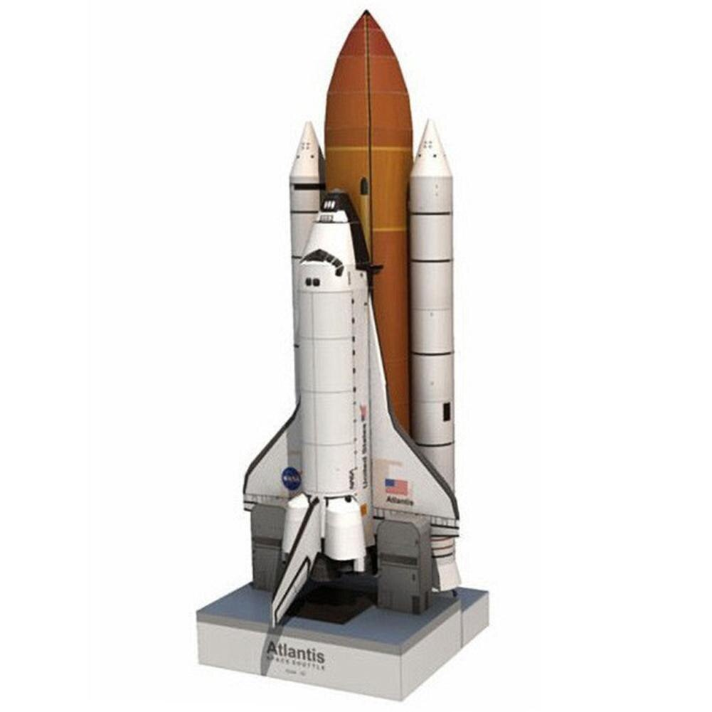 1 conjunto de crianças diy espaço transporte modelos avião papel 1150 modelo espaço brinquedos artesanais adulto foguete educacional para crianças v6h8