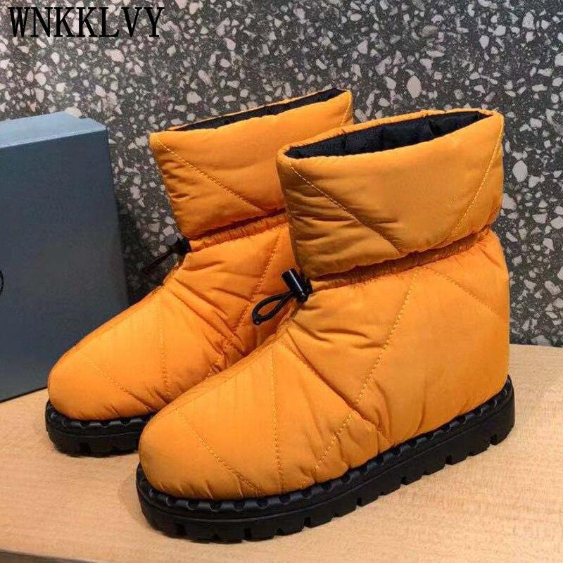 الخريف الشتاء سميكة وحيد الثلوج أحذية النساء حذاء من الجلد شقة جولة تو الترفيه أسفل أحذية مريحة كل مباراة أحذية بوت قصيرة 2021