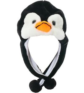 JOYHY Kid's Cute Plush Earflap Black Penguin Animal Hats Teenagers Boys Girl Winter Halloween Christmas Party Beanie Caps