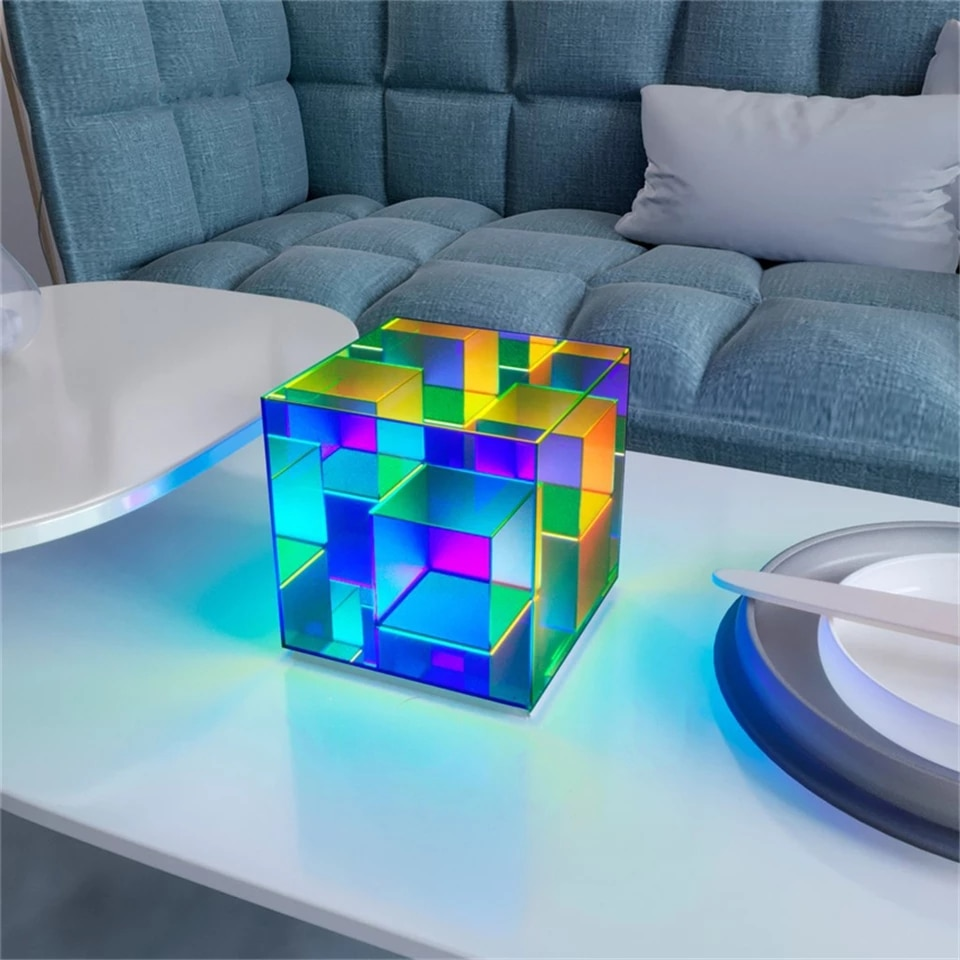 ace-littles drop shipping MusūCube LED light Wholesale Acrylic Color Desk Lamp