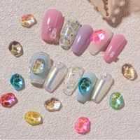 ice cube water ripple translucent manicure accessories crystal ornaments nail art jewelry diy nail art decoration