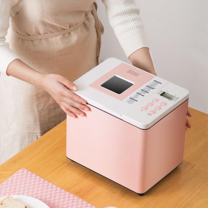 ماكينة الخبز الأوتوماتيكية المنزلية 220 فولت أنبوب مزدوج كعكة العجين صغيرة ذكية متعددة الوظائف الإفطار العجين نيدر