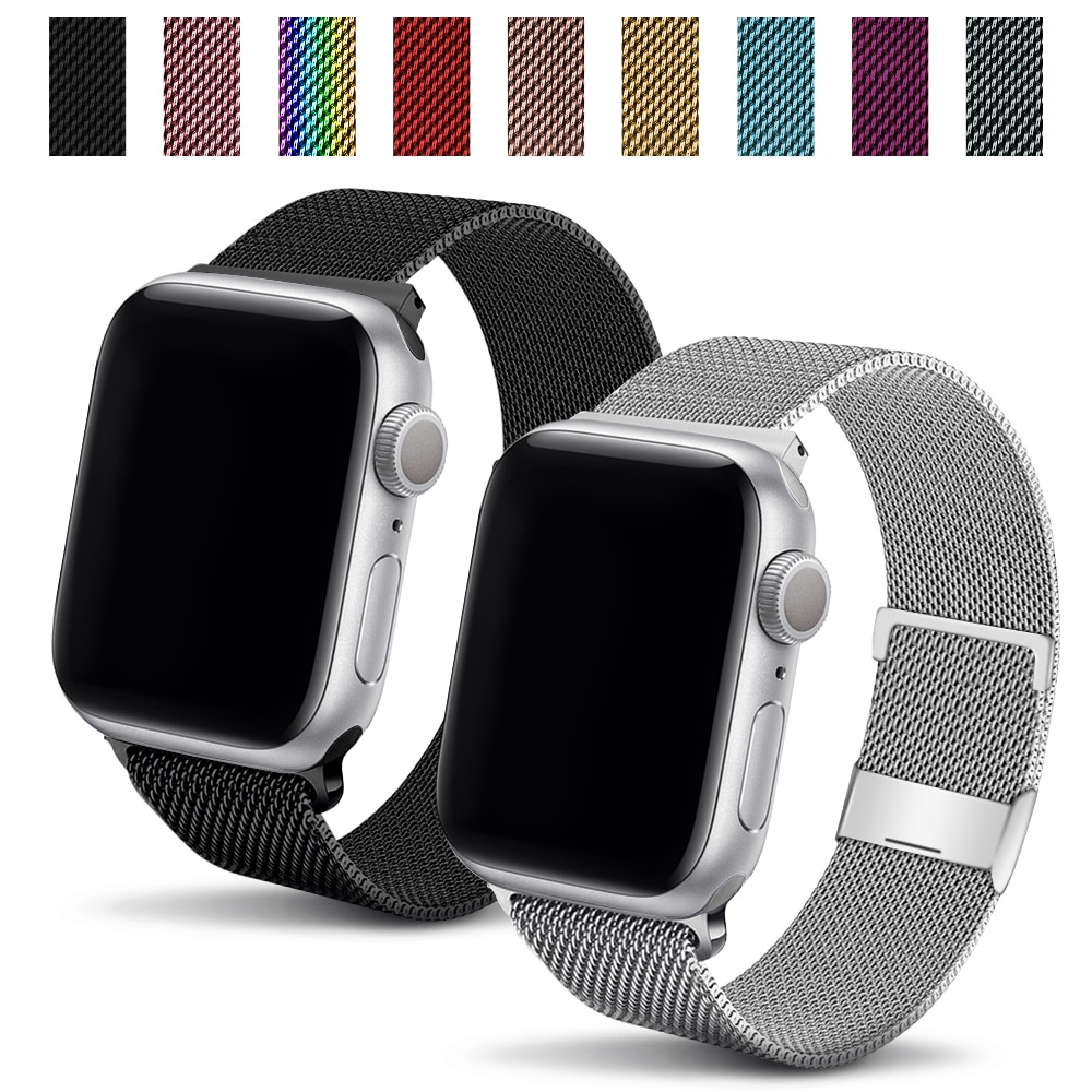 Stainless Steel Strap For Apple Watch Se/6/5 Band 44mm 40mm iWatch Serie 4 3 2 1 Bracelet Milanese L