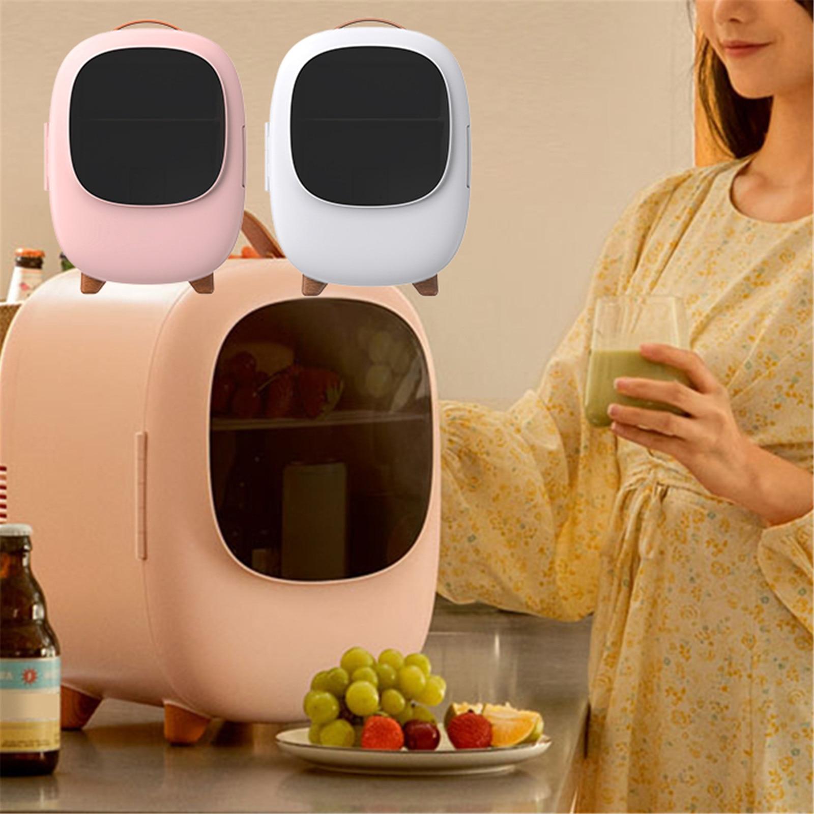 Makeup Fridge Mini 8L Refrigerator Energy-saving Car Dual Purpose 60W Skin Care Beauty Fridge Heat Preservation For Room