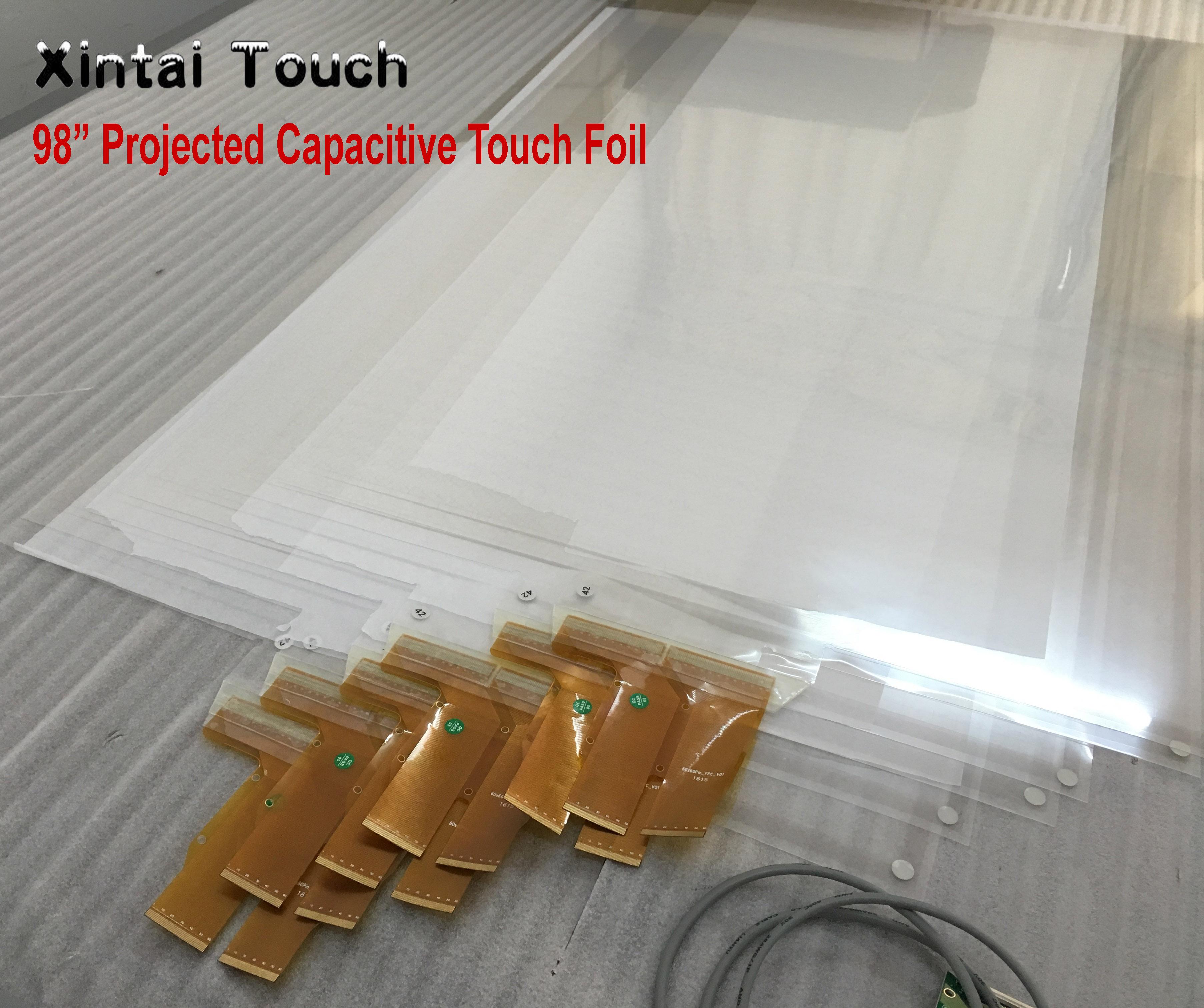 Xintai Touch-رقائق شاشة تعمل باللمس بالسعة ، فيلم شاشة لمس تفاعلي 10 نقاط ، شاشة تعمل باللمس ، شاشة تعمل باللمس ، كشك ، 98 بوصة