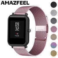 Ремешок для часов Amazfit Bip GTS 2 mini, металлический браслет для Xiaomi Amazfit Bip S Lite GTR 47 Pace Stratos Bip U, 20 мм