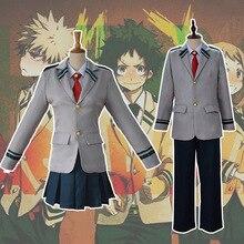 Disfraz de My Hero Academia para Halloween, uniforme de escuela secundaria, Boku No Hero, URARAKA OCHACO Todoroki, conjunto de abrigo