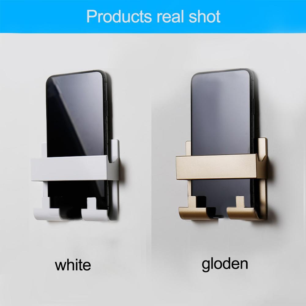 Soporte de carga de teléfono móvil estilo pasta para llavero soporte de montaje en pared práctico estante de enchufe Hotel Universal