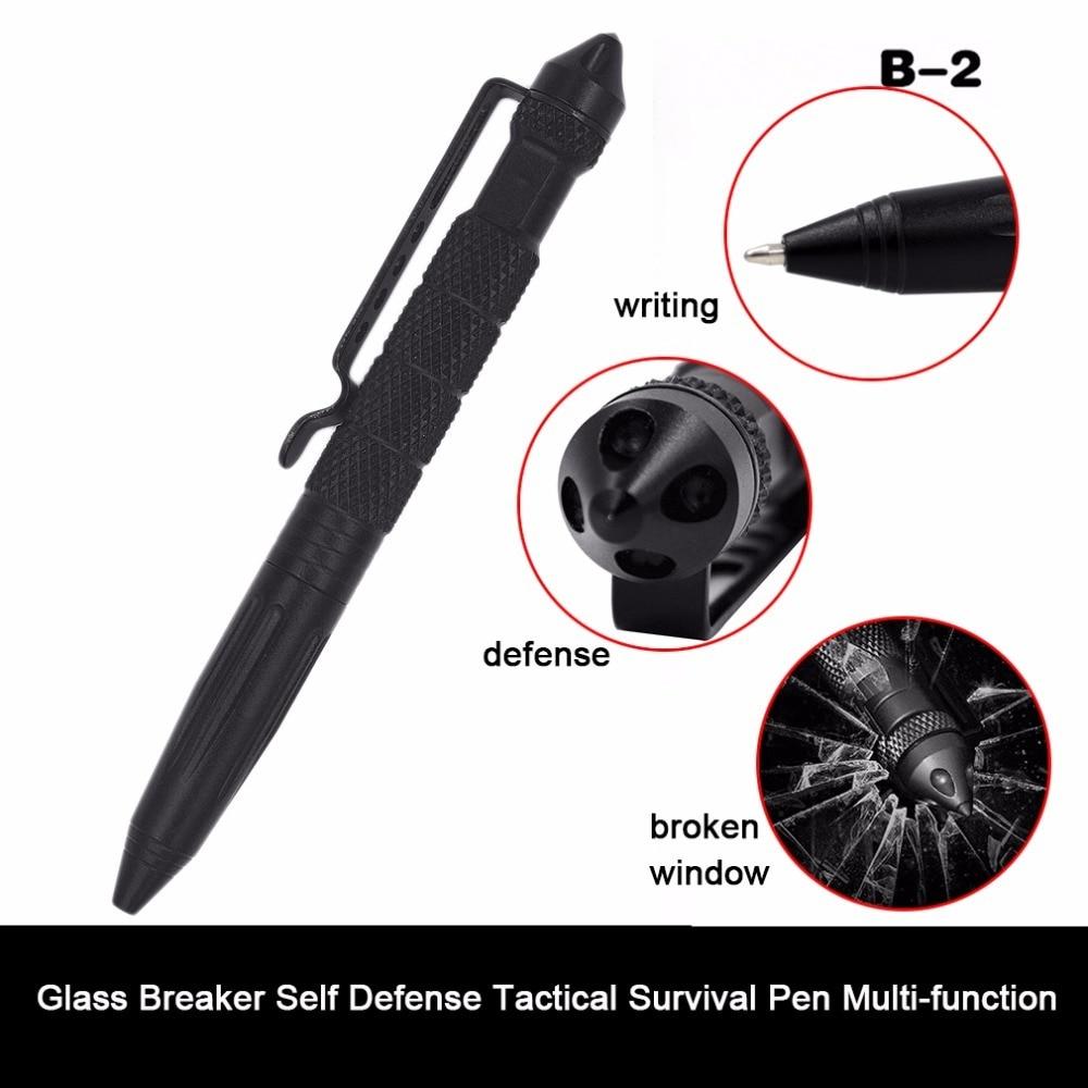 Practical Tactical Pens EDC Aluminum Glass Breaker Self Defense Tactical Survival Pen Multi-function Camping Tool for Writing