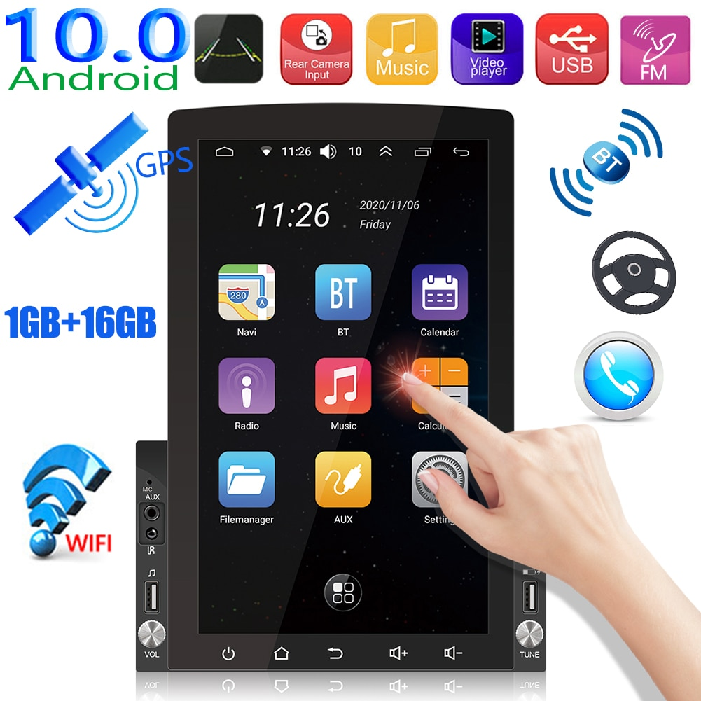 VODOOL Car Radio Multimedia Video Players Screen for Android 10 Navigation Bluetooth WiFi GPS 2 din dvd Vertical Display