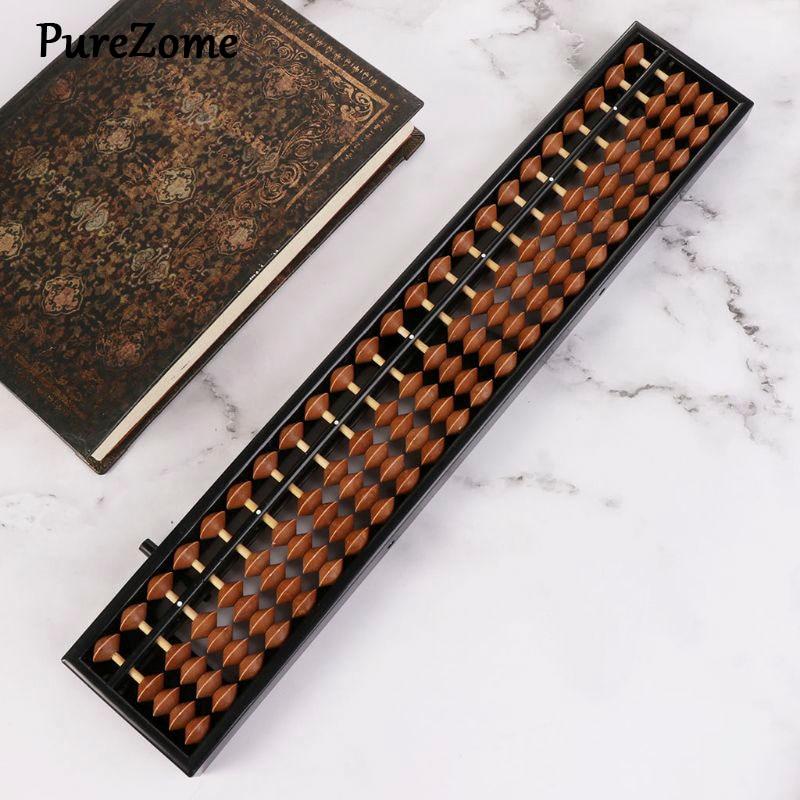 Portátil chino 23 dígitos columna Abacus aritmética Soroban calcular contando matemáticas herramienta de aprendizaje para los niños