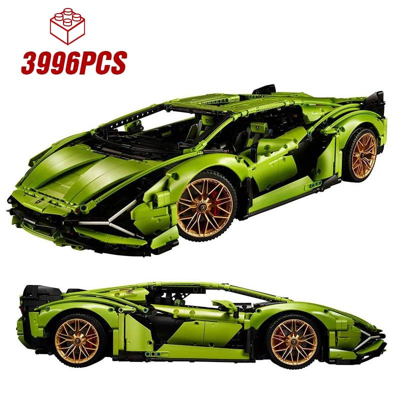 Designer Building Blocks Speed Champions  Lamborghini Sian FKP 37 Technic  MOC Vehicle Kit  Bricks Kid Toys Gifts for Adult