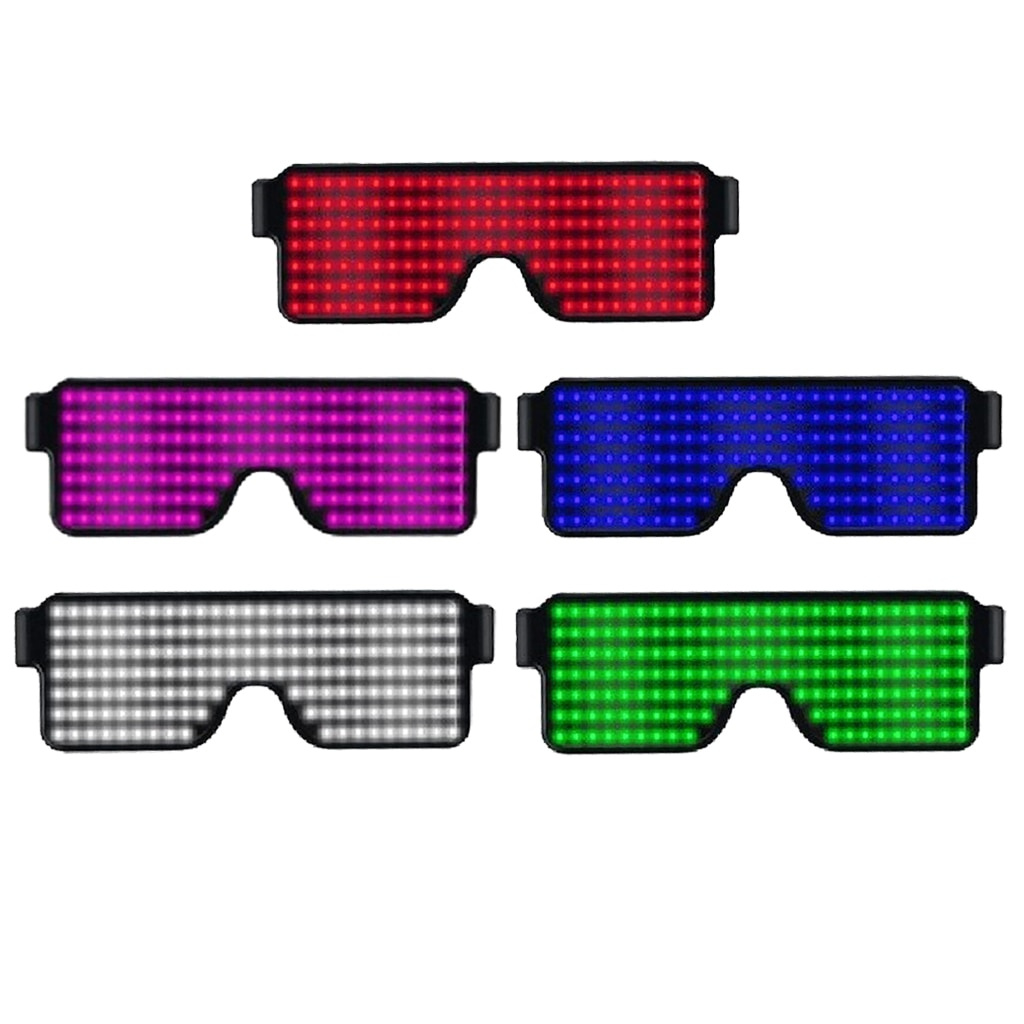 Obturador EL cable de neón Rave gafas parpadeantes gafas de LED luz Up disfraces para EDM, fiesta
