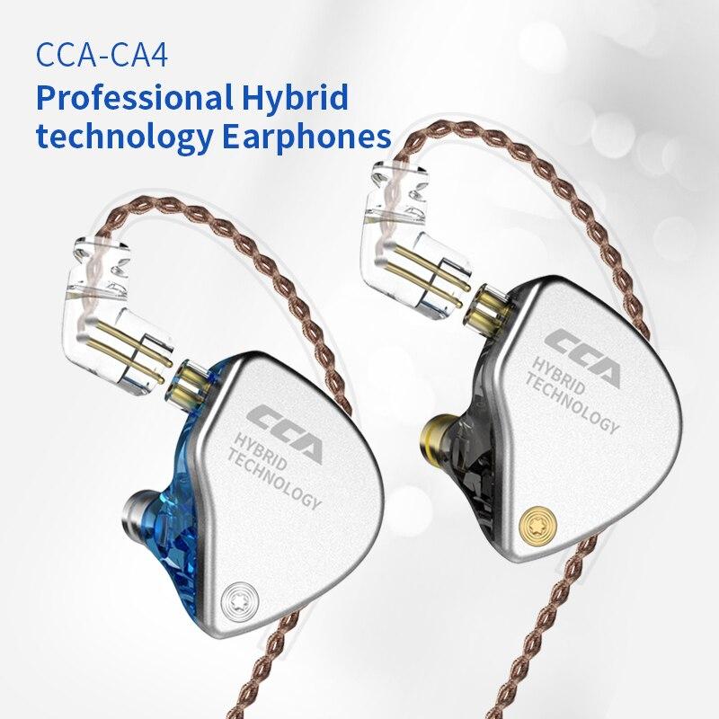 Tecnología híbrida de Metal CCA CA4 en 1DD + 1BA auriculares de oído Monitor auriculares con graves Hifi auriculares Detacable ZSN ZST V30 V80 C10 C04