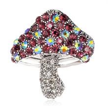 Exquisite set stone Korean version of small mushroom brooch esmotic accessories accessories