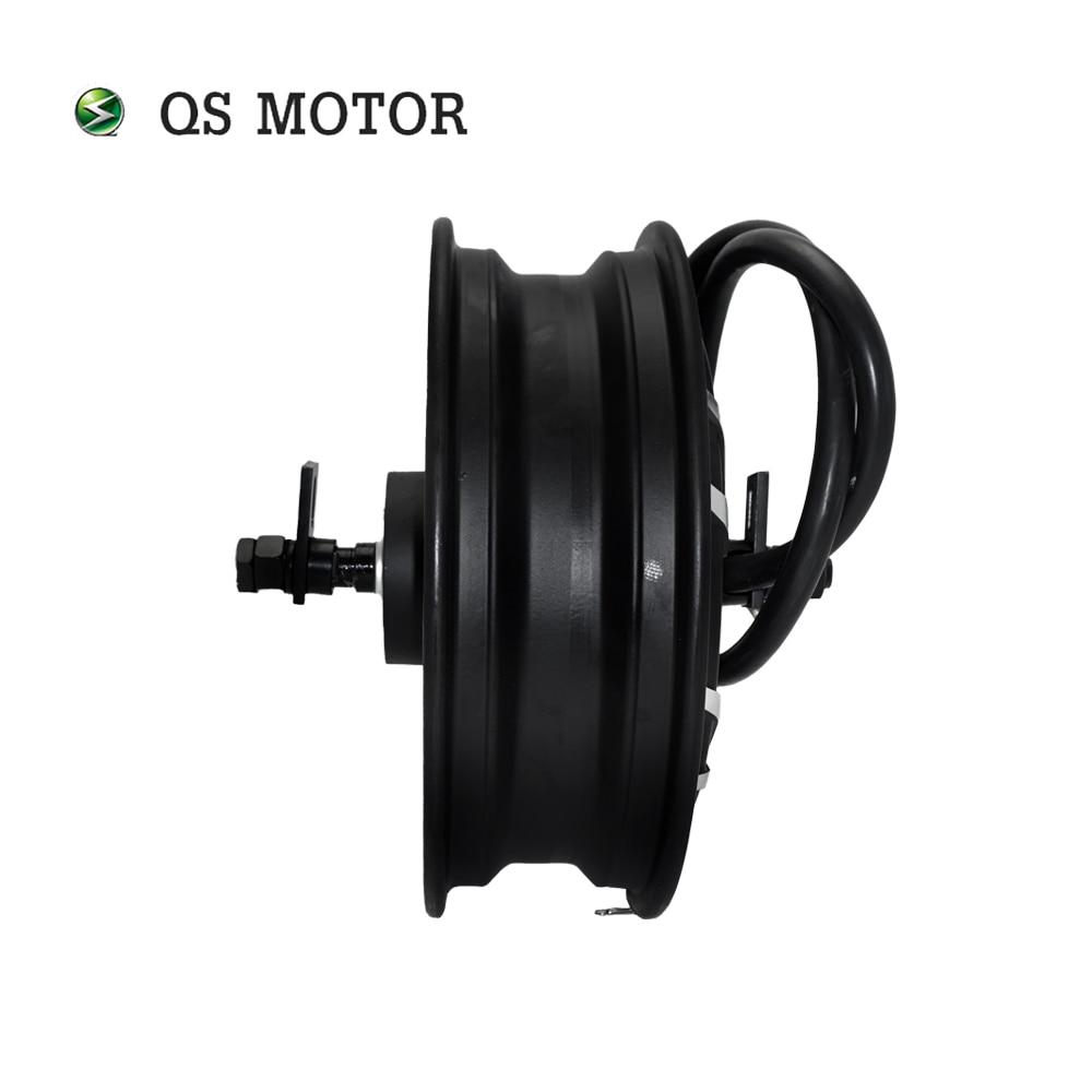 QS Motor 12*3.5inch 5000W V4 72V 95kph Hub Motor for Electric Motorcycle enlarge