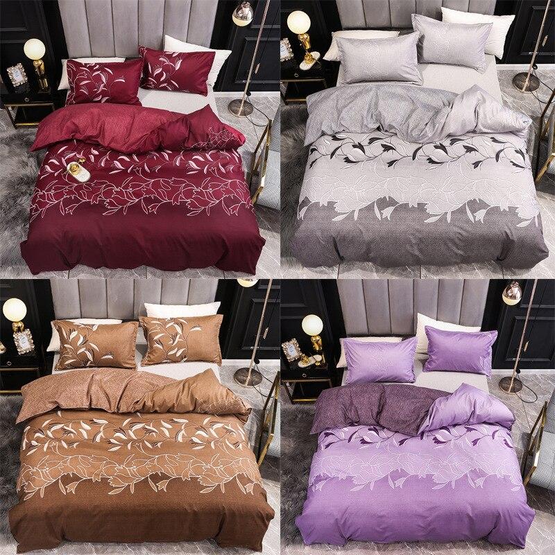 3d الطباعة المنزل المعزي الفراش مجموعة الطازجة الملكة الملك حجم السرير مجموعة حاف يغطي أغطية 1 قطعة غطاء لحاف + 2 قطعة وسادة الحالات