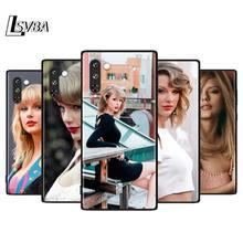 Funda de silicona suave negra Taylor Fashion Girl para Samsung Galaxy Note 10 9 8 Plus S10 5G S9 S8 S7 S6 Plus