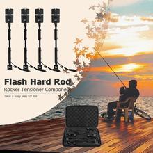 1/2/3/4 pièces pêche carpe morsure alarmes et LED pêche échangiste lumineux carpe pêche alarme ensemble 7 couleur indicateur pêche matériel