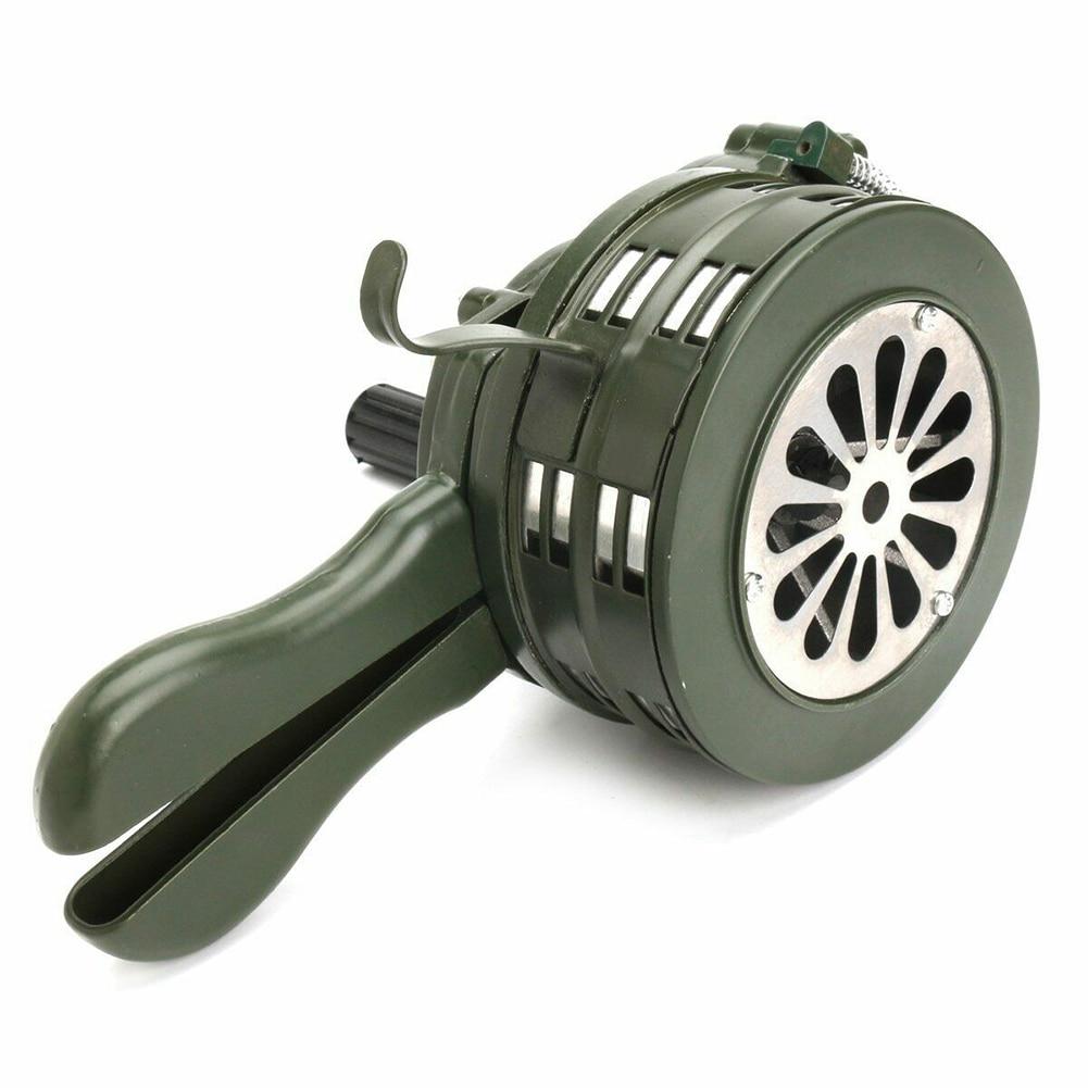 Hand Crank Siren Horn 110dB Manual Operated Metal Alarm Air Raid Emergency Safety New Arrival enlarge