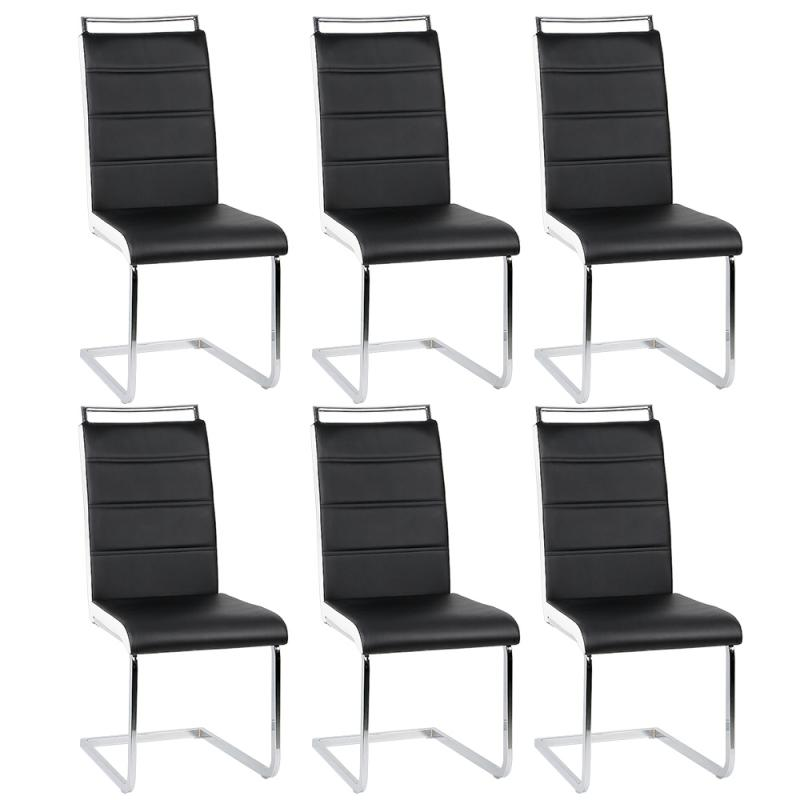 2pcs/Set Nordic Dining Chair Black White 4-frame Backrests, Bow-shaped Office Chair  Tea Coffee Stool Living Room Furniture HWC