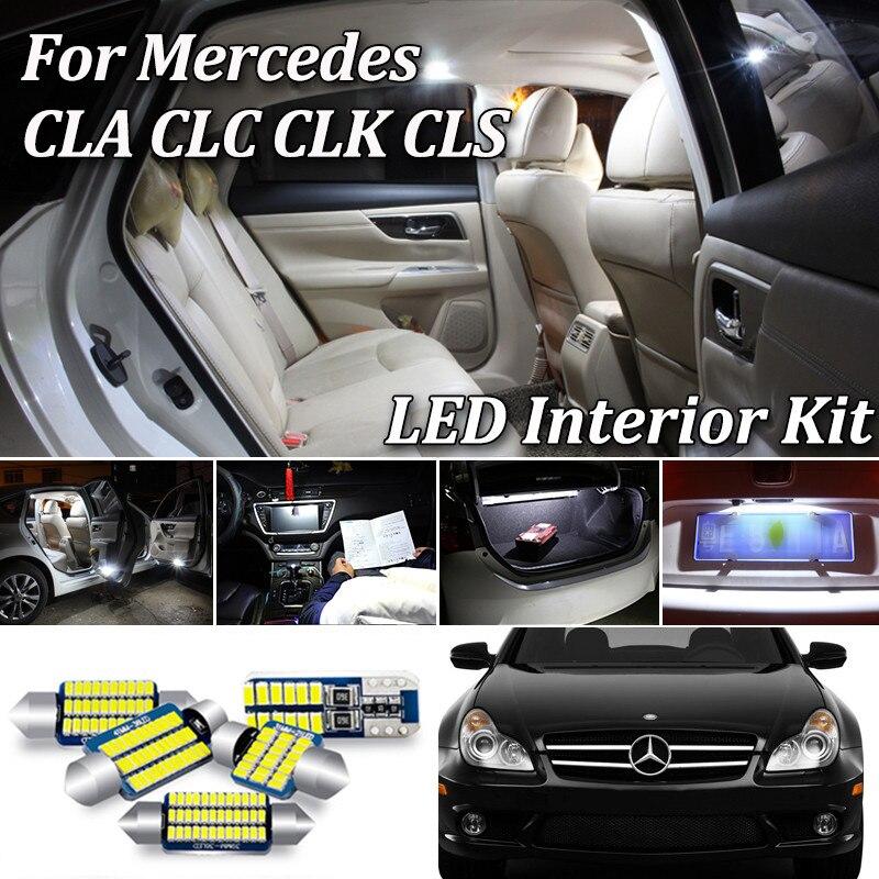 Branco livre de erros led kit luz interior para mercedes benz cls clc clk cla classe w218 w219 w208 c208 w209 c209 a209 c117 cl203