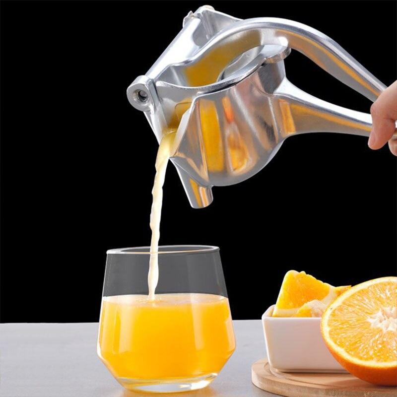 1 قطعة عصارة الفاكهة اليدوي سبائك الألومنيوم عصارة يدوية الليمون عصارة الحمضيات البطيخ العنب اليد ضغط عصير أدوات مطبخ