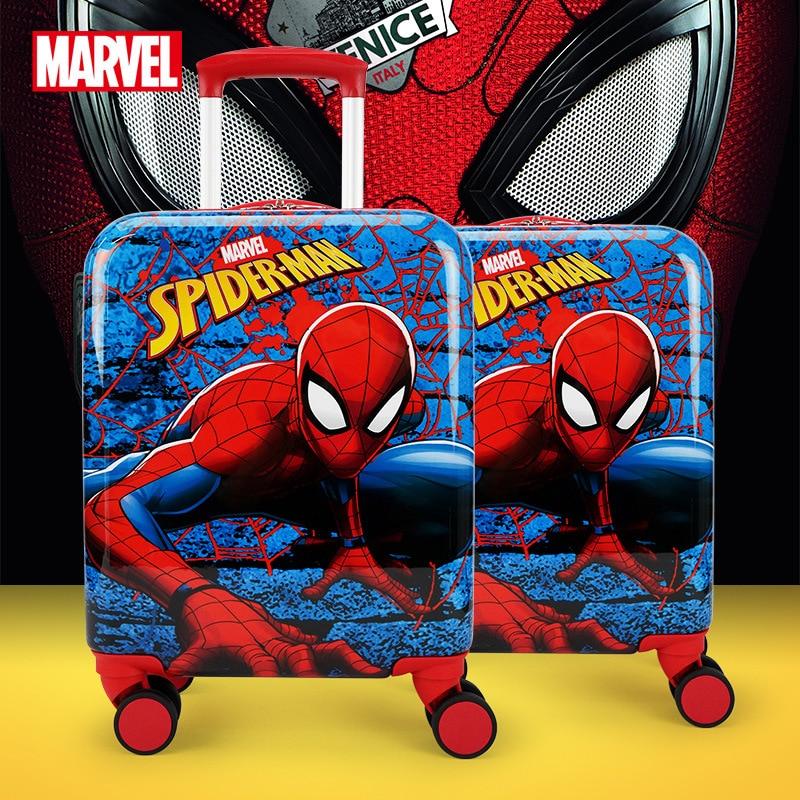 Original Disney Marvel Genuine Trolley Case 16 Inch Universal Wheel Boarding Travel Luggage Spiderman Carry-on Luggage